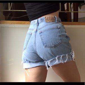 Vintage GAP High Waist Light Wash Shorts